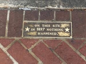 Sign outside Commerce Restaurant