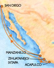 Carnival Mexico Map