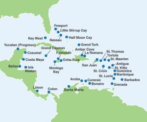 Carnivasl Caribbean Map
