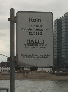 Pier Sign - Cologne